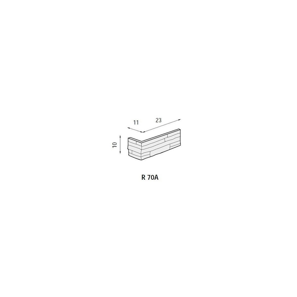 Plaqueta ángulo R70 Lisboa (Caja 1 ml) Revesti-Mur