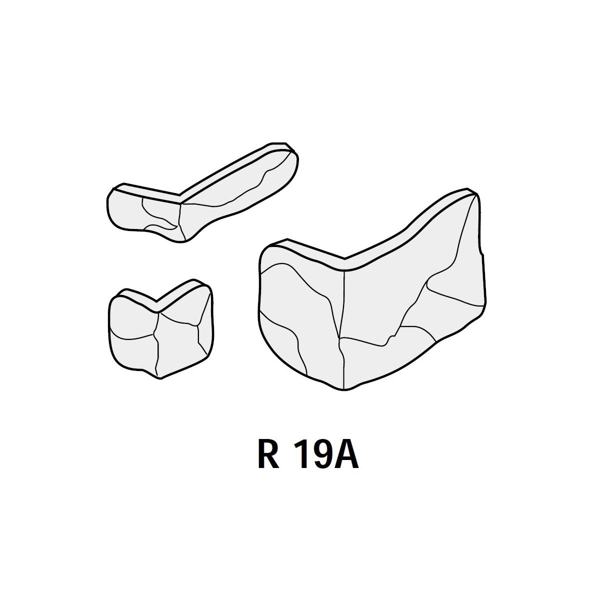 Plaqueta ángulo R19 Zurich (Caja 1.50 ml)