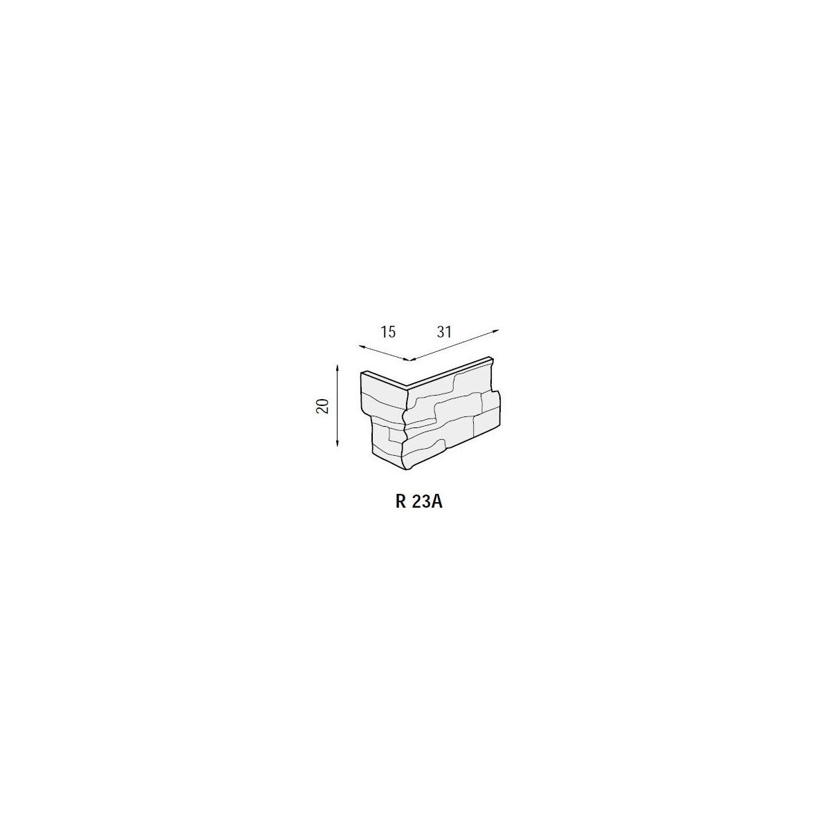 Plaqueta ángulo R23 Ginebra (Caja 1 ml) Revesti-Mur
