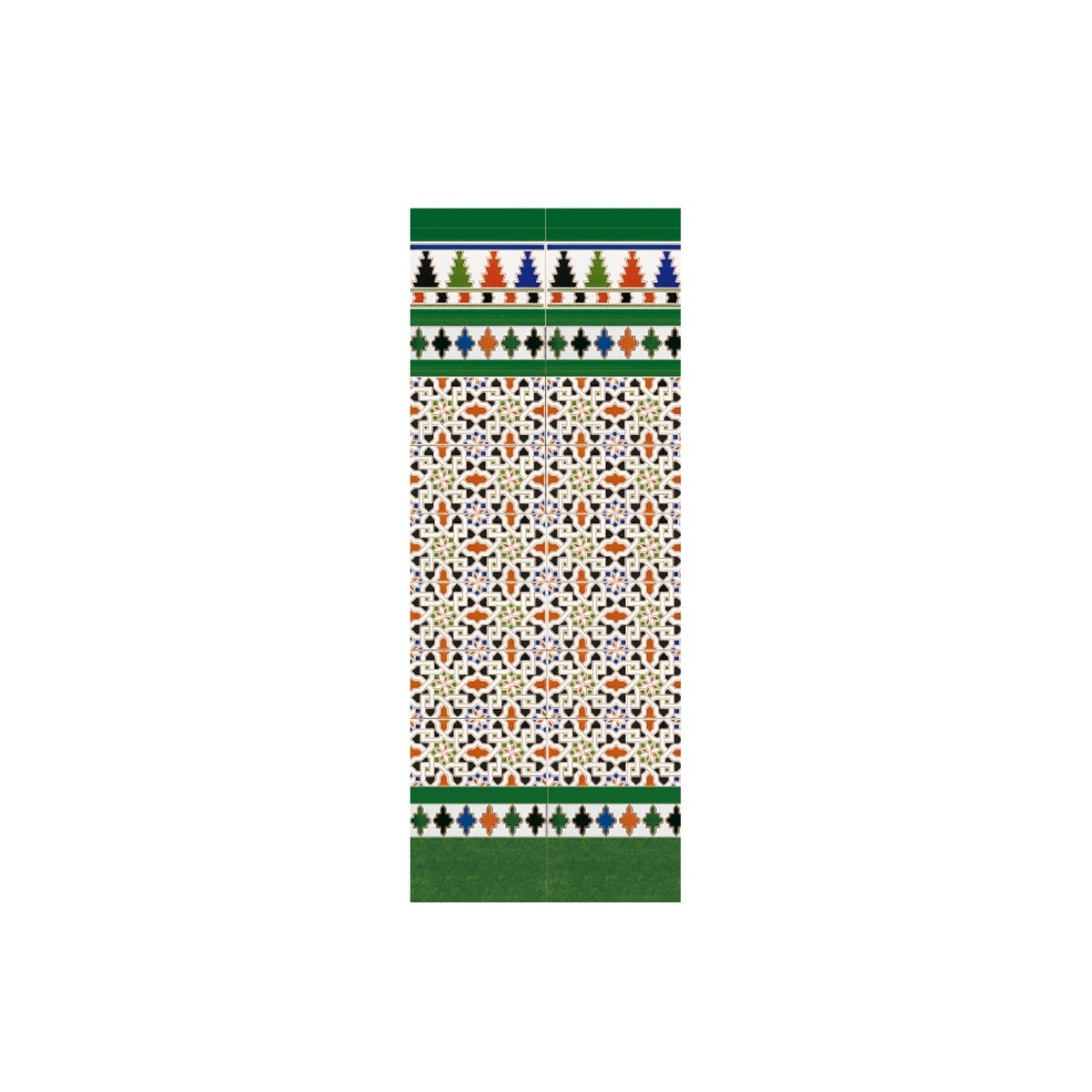 Tira relieve verde 3x28 (ud) - Serie Alhambra - Marca Mainzu