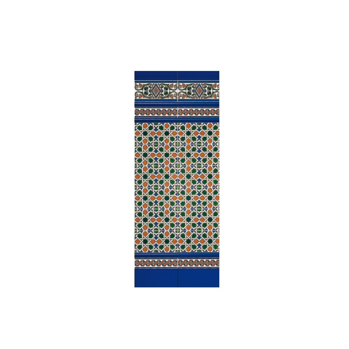 Tira relieve cobalto 3x28 (ud) - Serie Alhambra - Marca Mainzu
