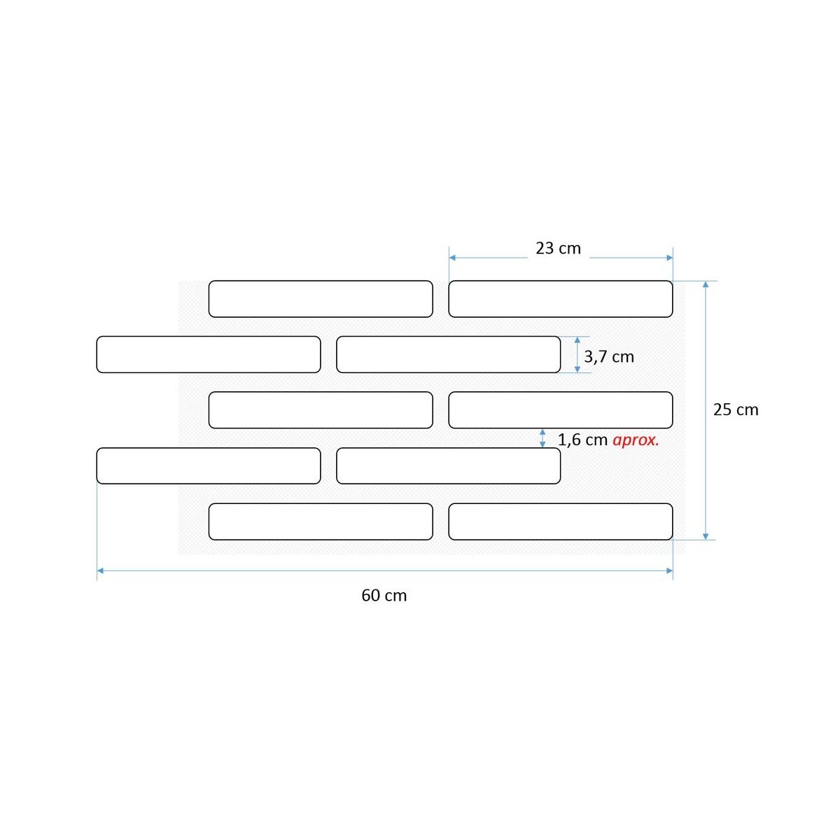 0 Plaqueta rustico envejecida blanco de (m2)