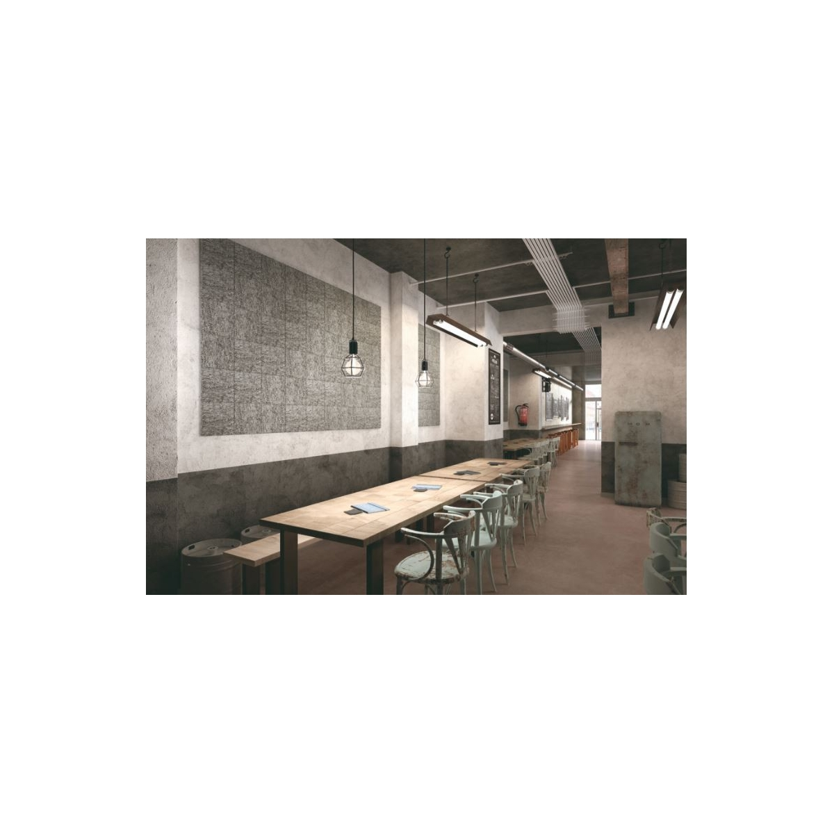 Panel acústico para paredes color gris medio Grupo Unamacor