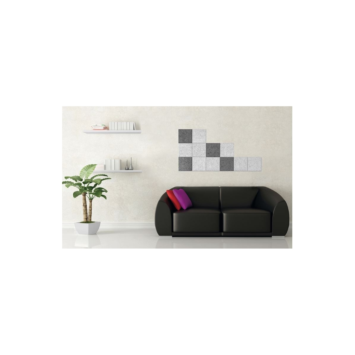 Panel sintético Legnomuro Grupo Unamacor Panel acústico para paredes color gris medio online