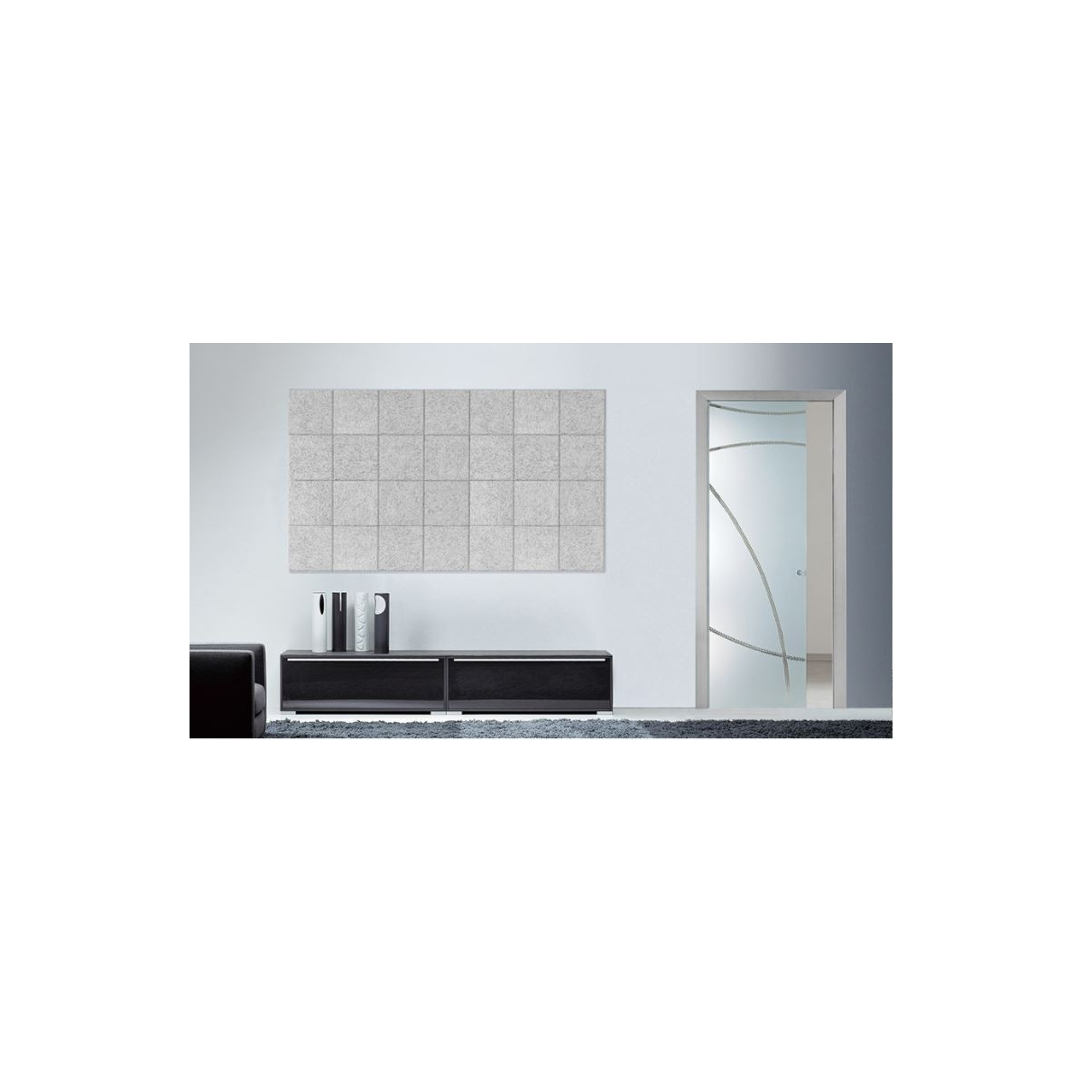 Panel acústico para paredes color gris medio Panel sintético Legnomuro