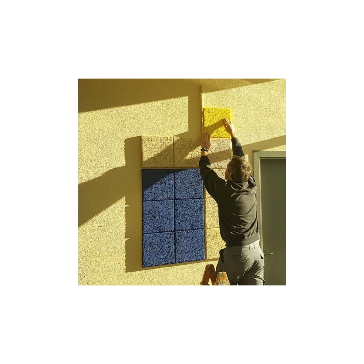 Decoración útil con el Panel sintético Legnomuro Gris Medio 29x29