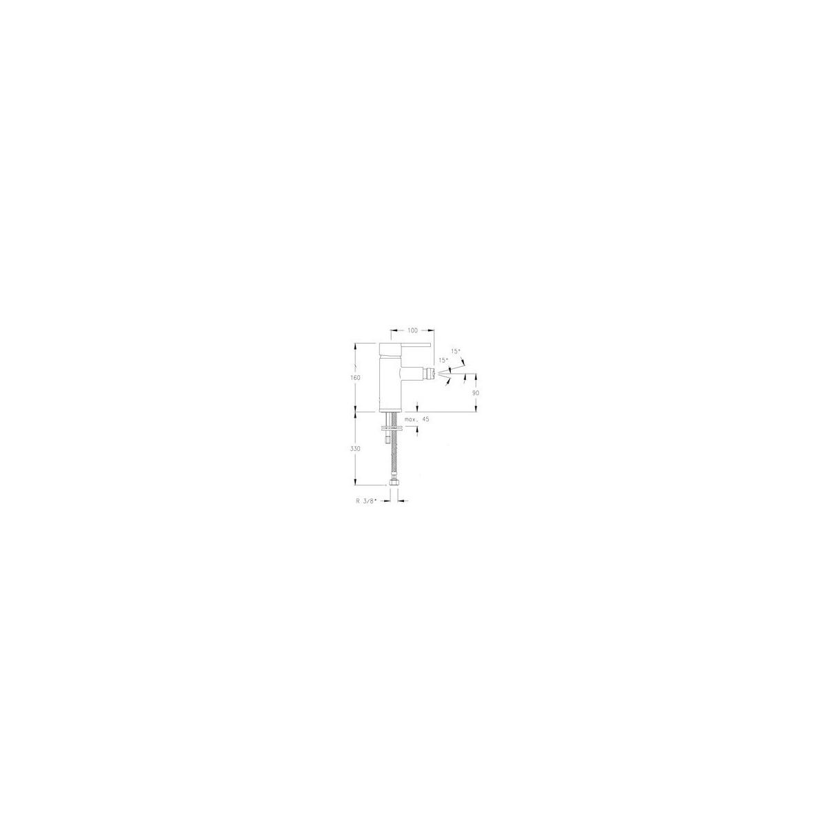 Grifo monomando para bidé modelo Drako 3303
