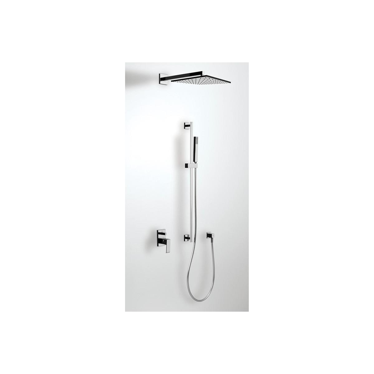 Conjunto de ducha empotrado con barra long Cuadro Exclusive