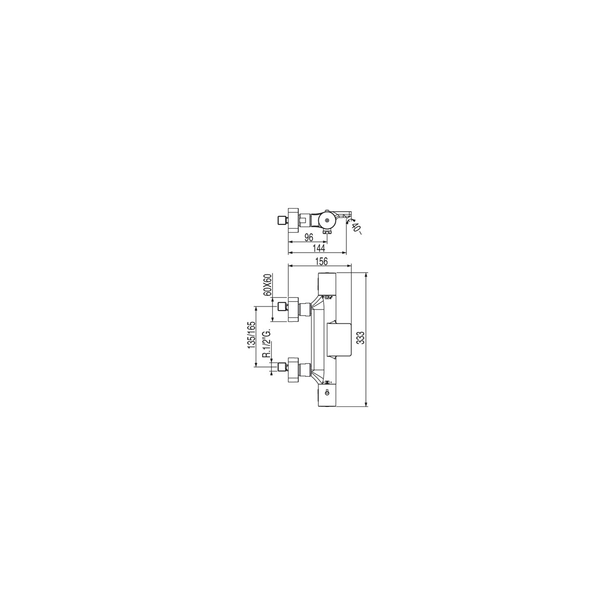 Grifo Bañera-ducha Termostática Loft Colors Tres