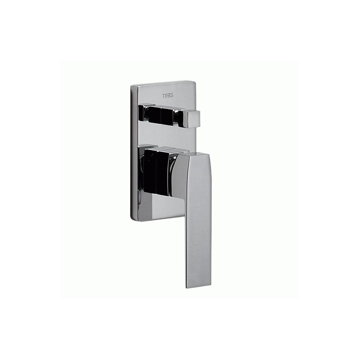 Conjunto de ducha empotrado cuadrado con barra deslizante