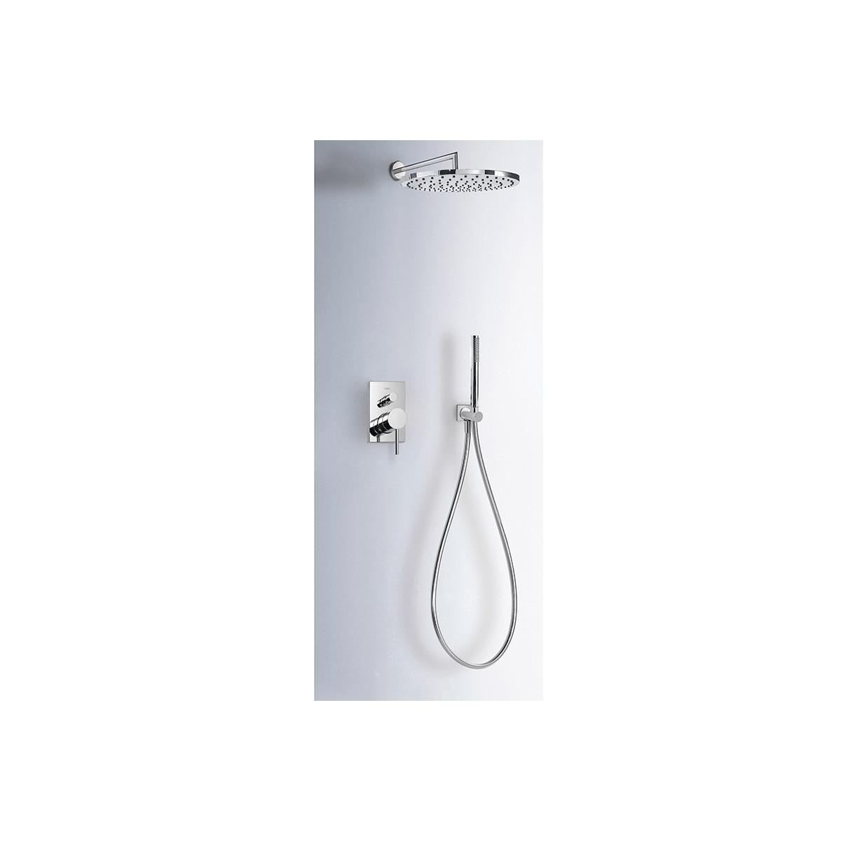 Conjunto ducha redonda empotrado Max-Tres