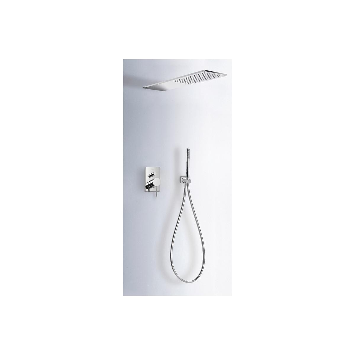 Conjunto ducha INOX empotrado Max-Tres
