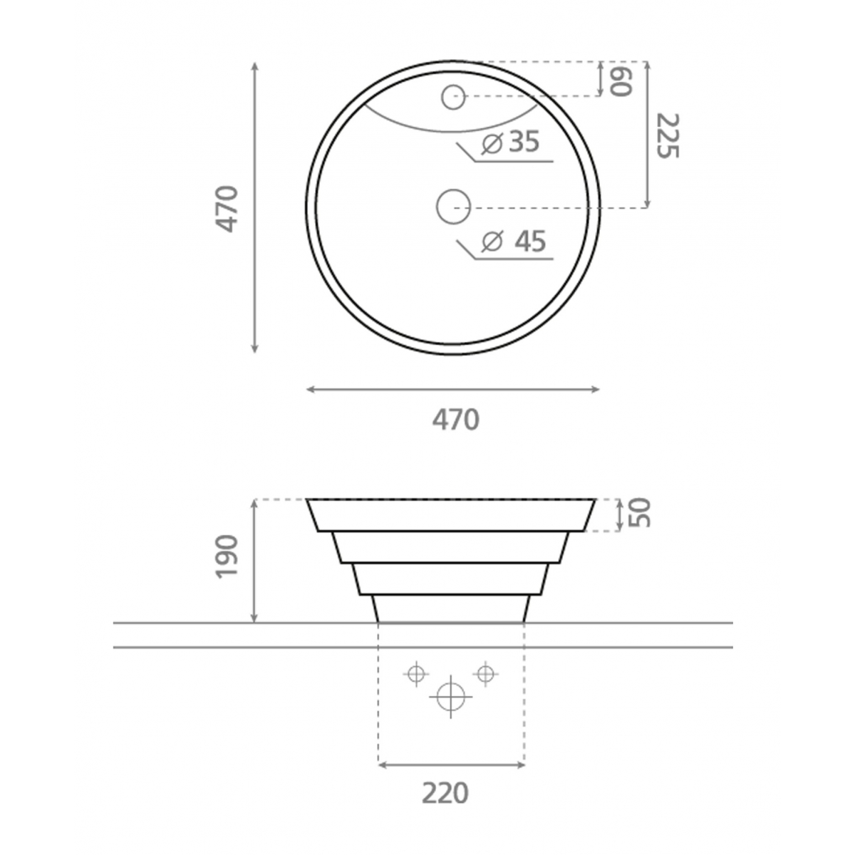 Lavabo Circular Atlanta - Lavabos circulares - Marca The Bathco
