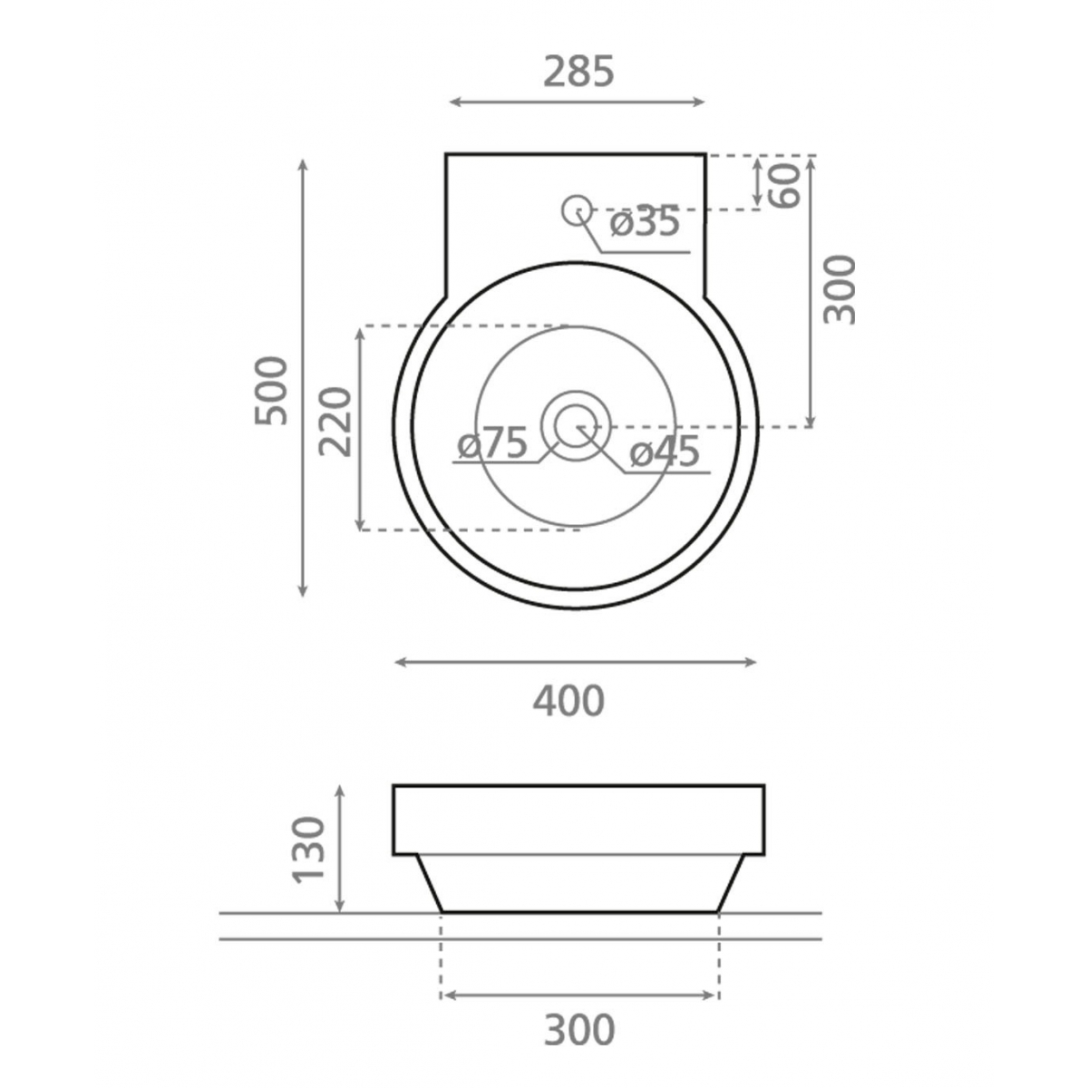 Lavabo Circular Roma - Lavabos circulares - Marca The Bathco