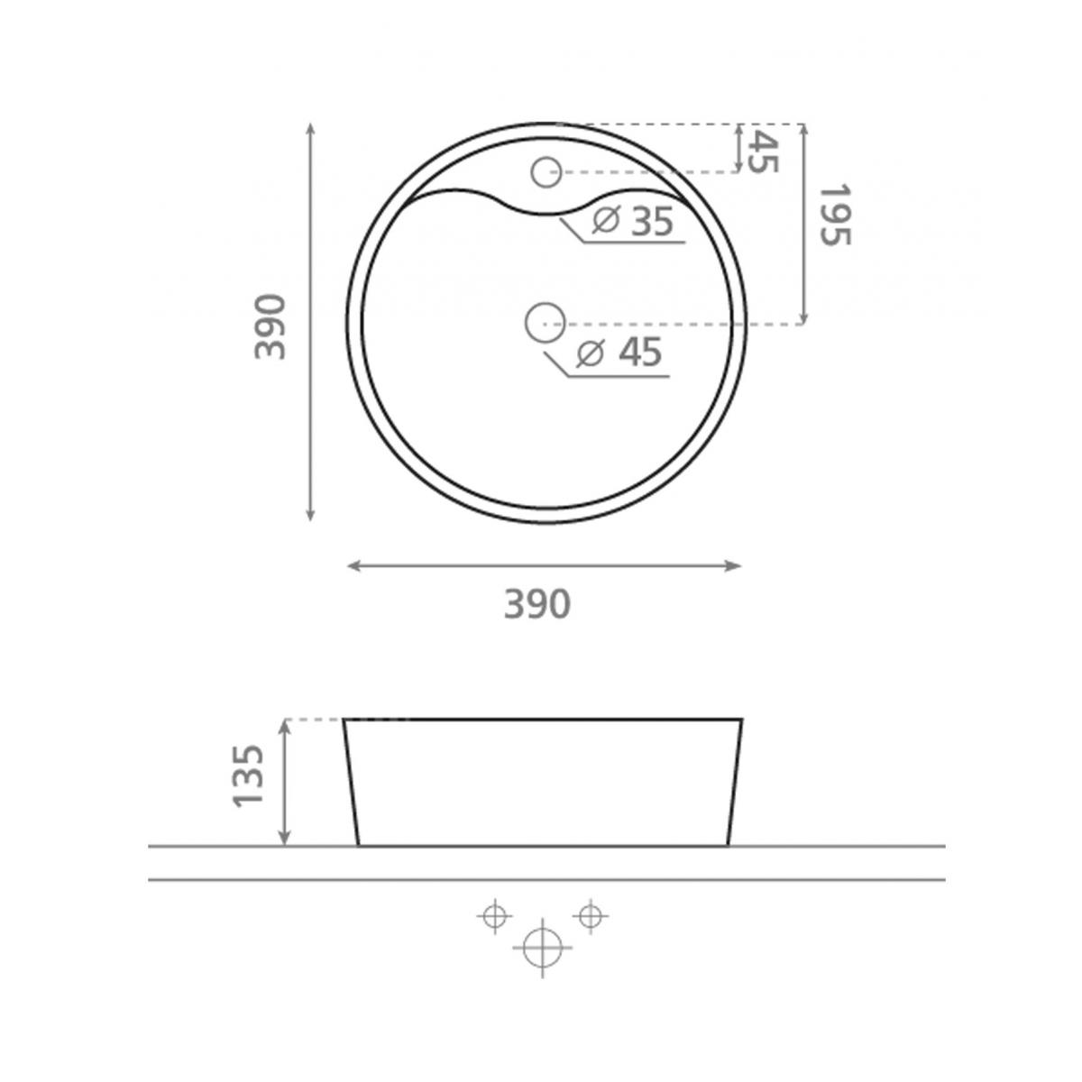 Lavabo Circular Viena - Lavabos circulares - Marca The Bathco