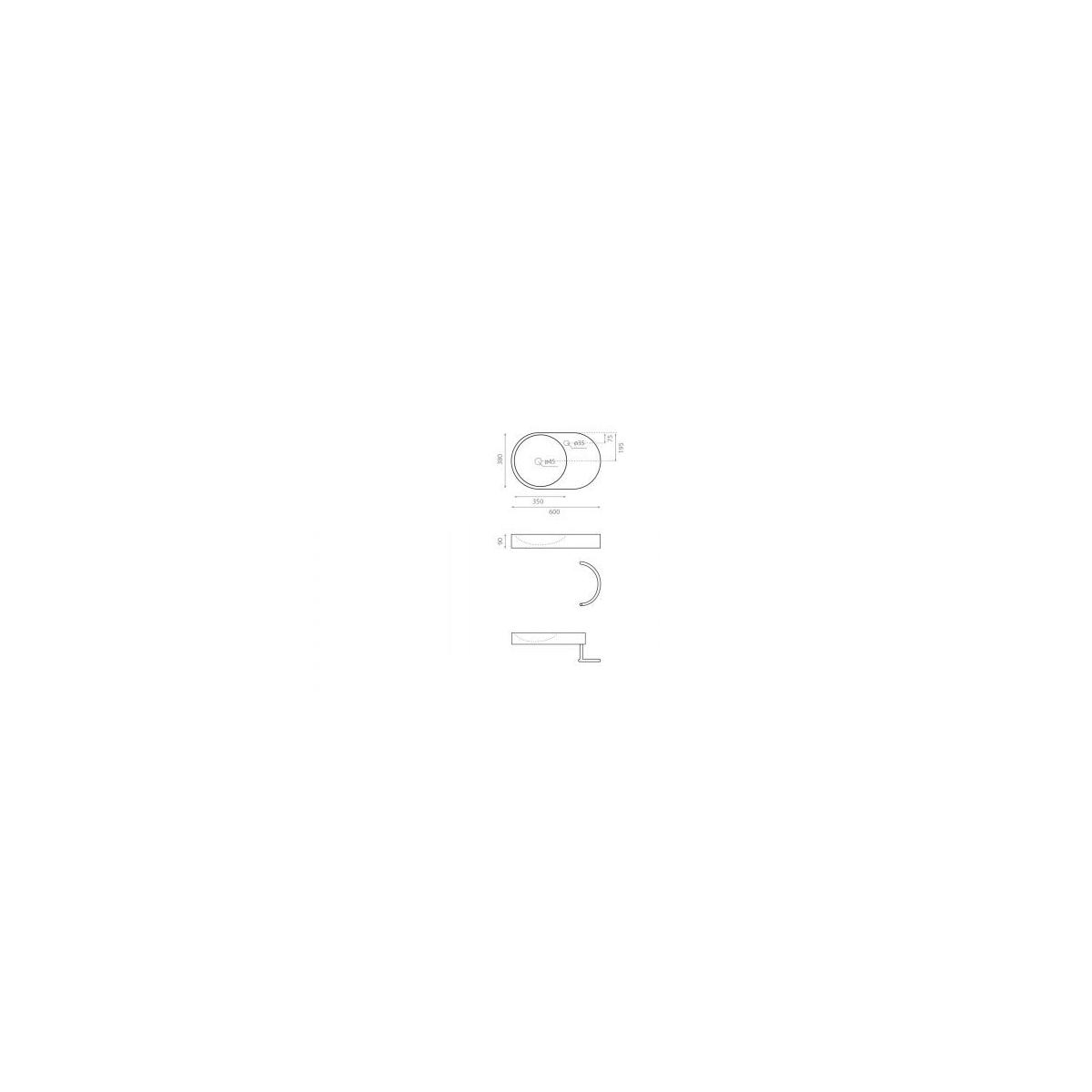 Lavabo Oval Fuengirola - Lavabos ovales - Marca The Bathco