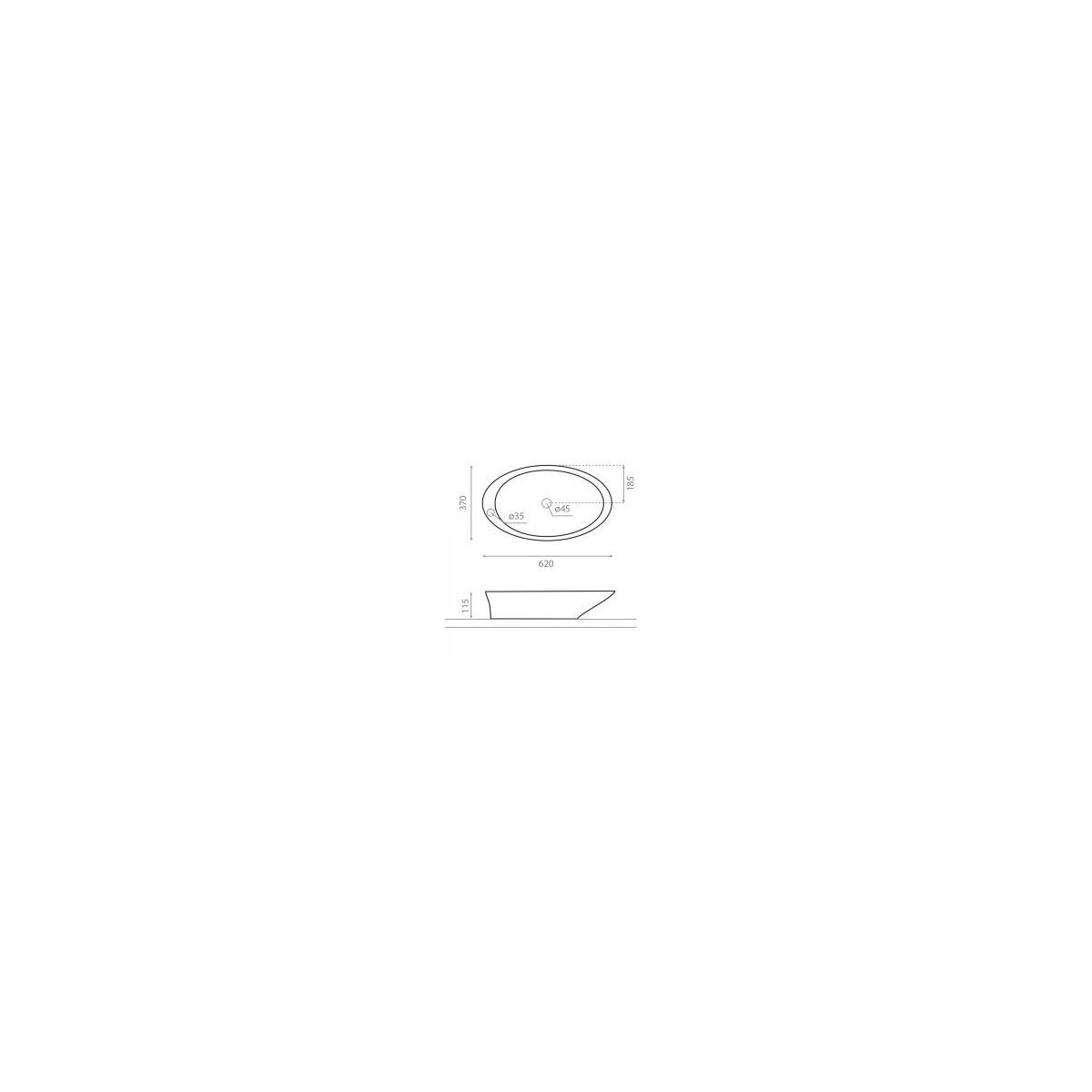 Lavabo Oval Pure - Lavabos ovales - Marca The Bathco