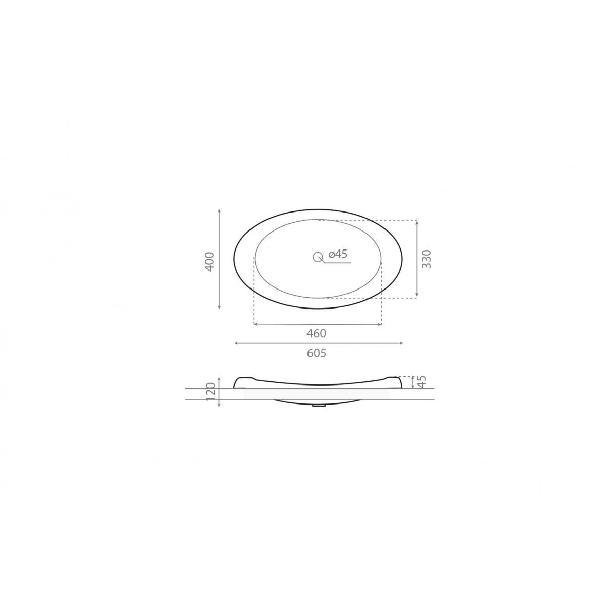 Lavabo Oval Ellipse - Lavabos ovales - Marca The Bathco