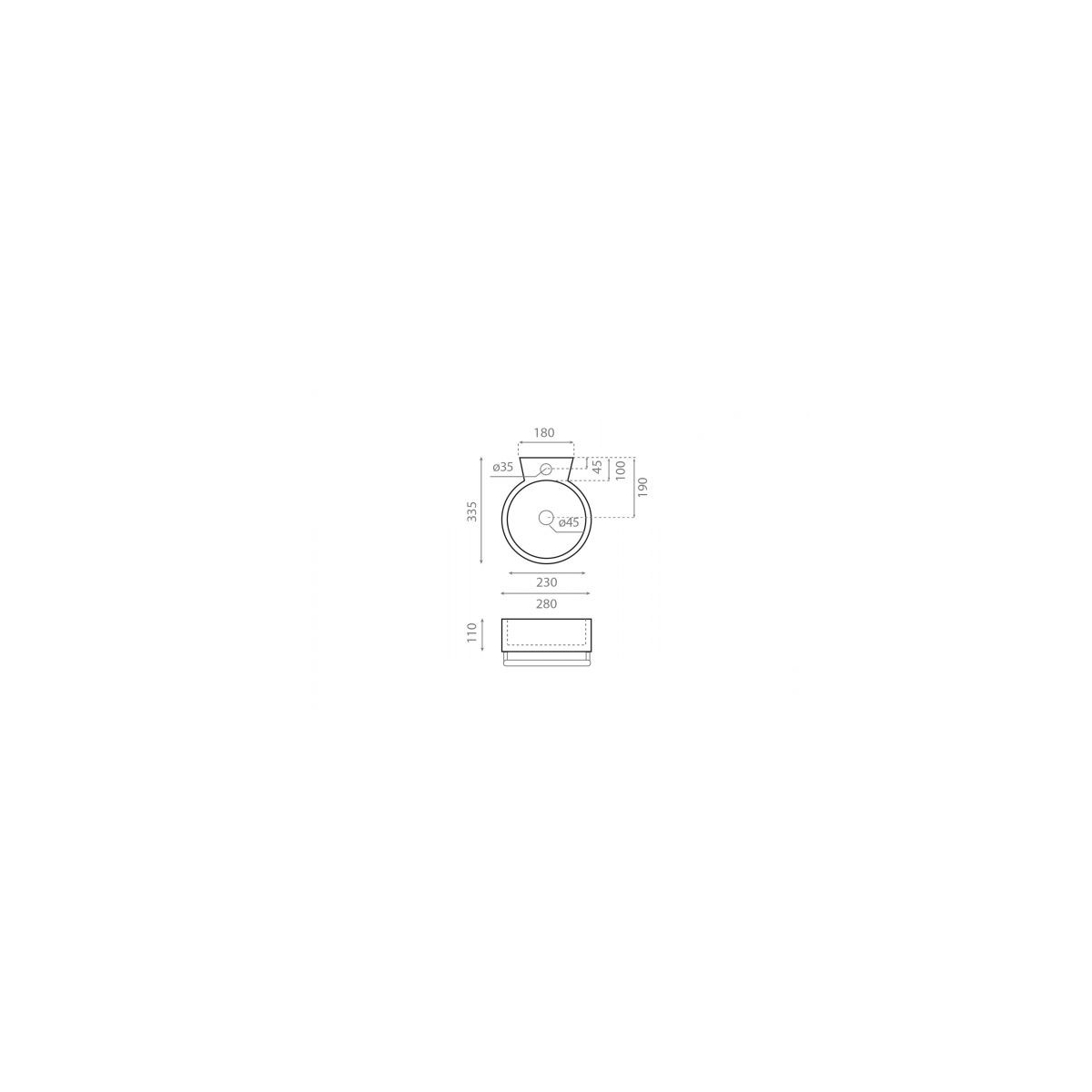 Lavabo Mini Sherry - Lavabos mini - Marca The Bathco