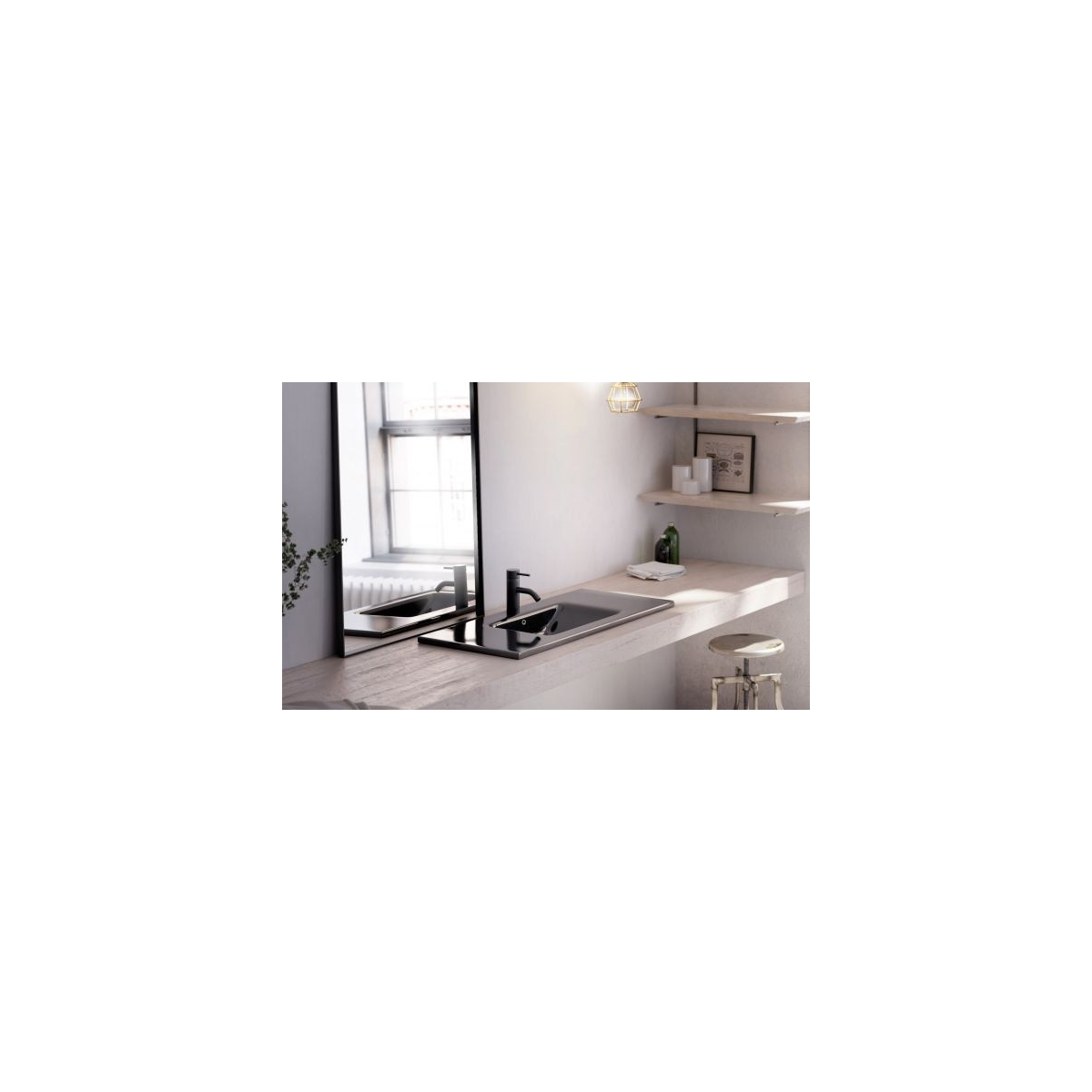 Lavabo Rectangular Montevideo D-Color Lavabos rectangulares The Bathco