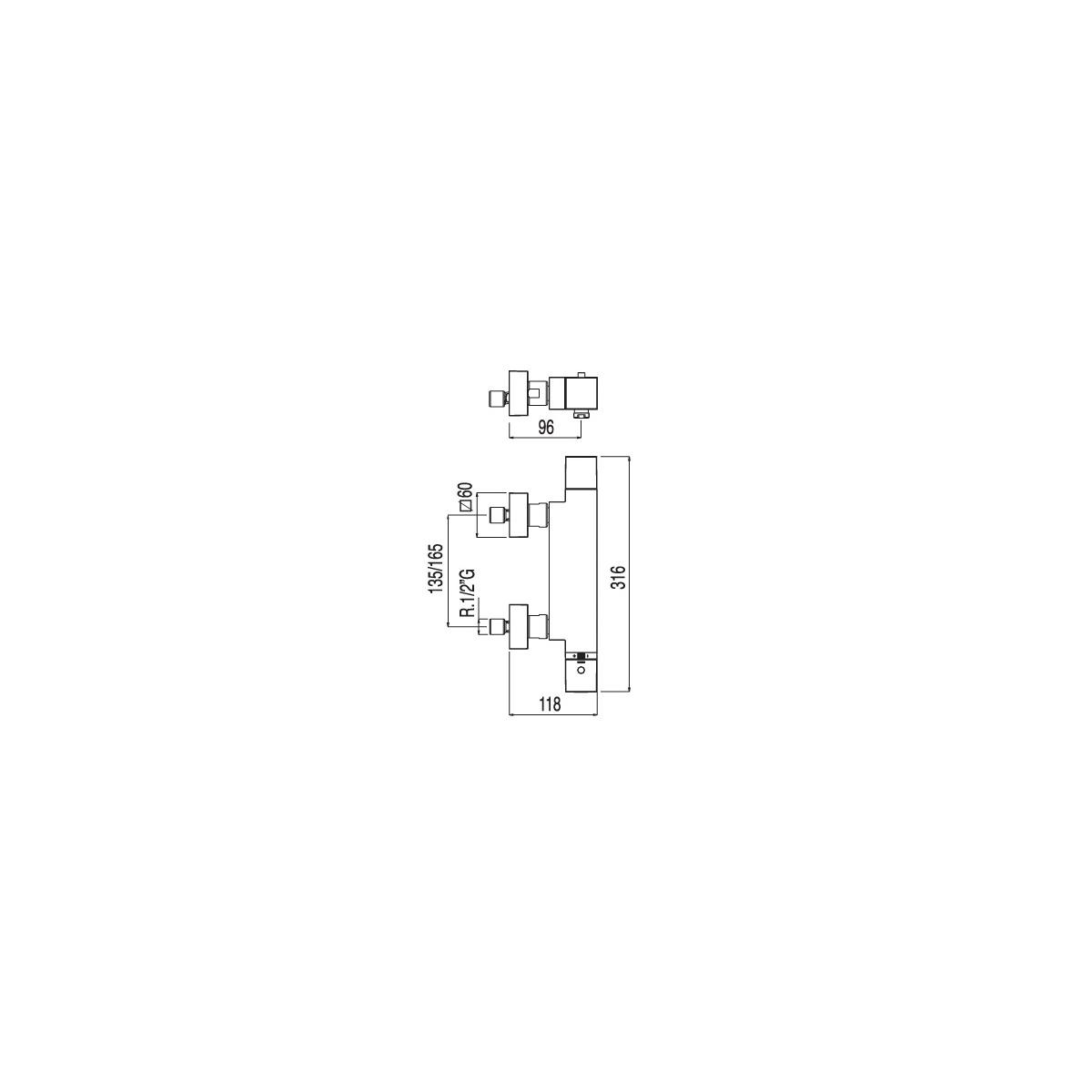 Bañera-Ducha SLIM termostática