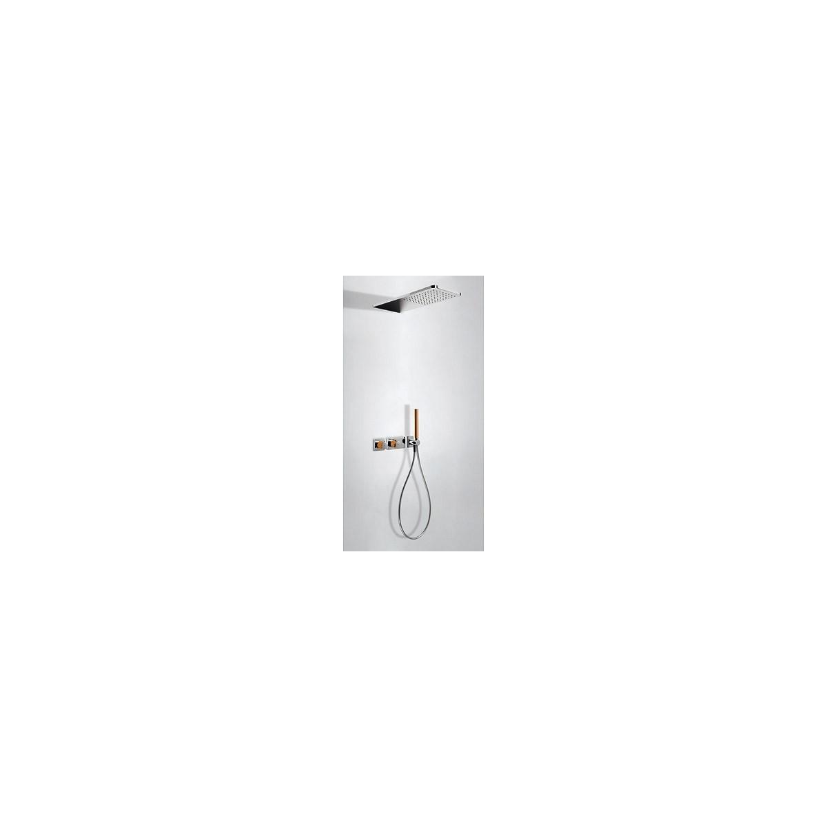 Conjunto ducha empotrado termostático 2 vías