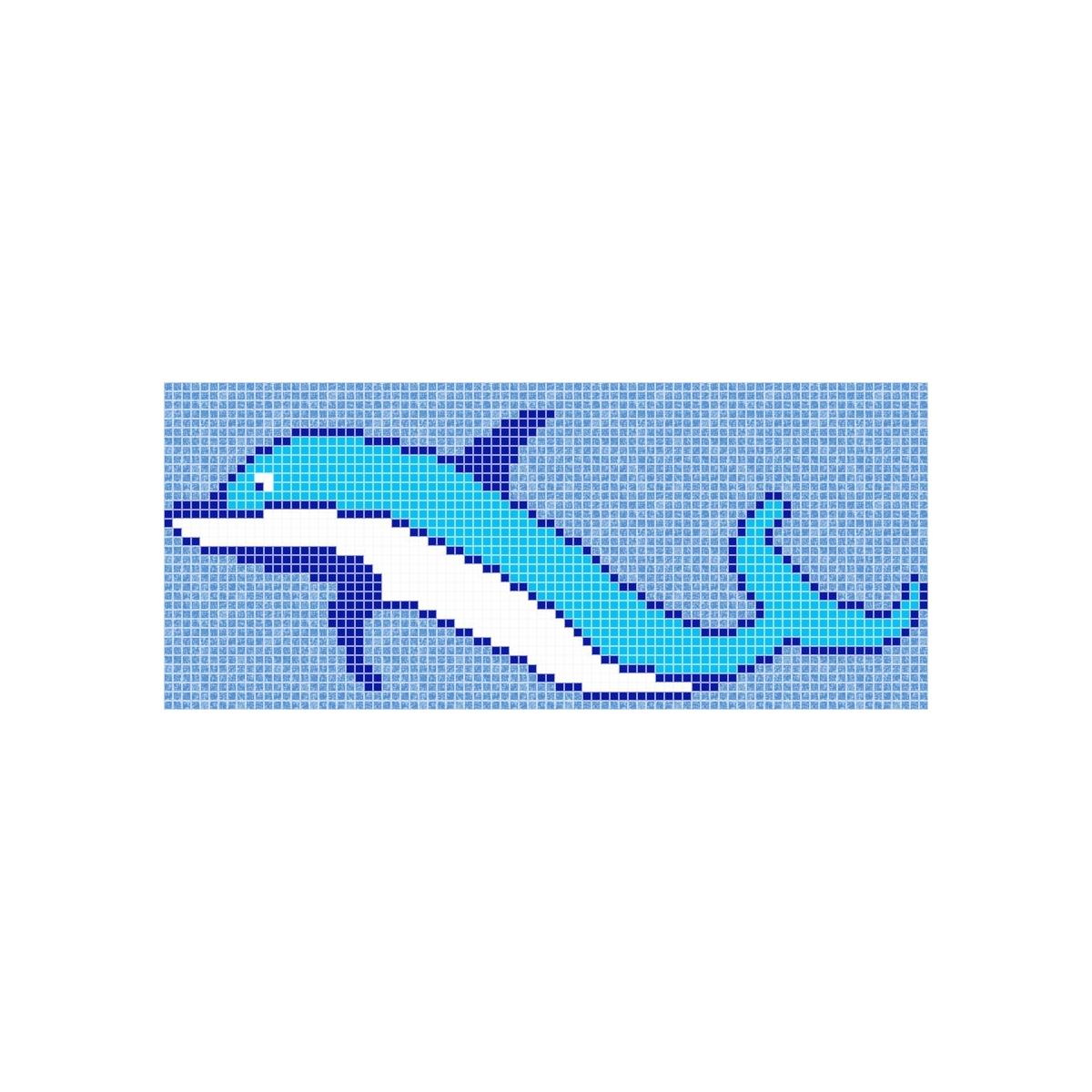Fondo de piscina Delfin - Cenefas y dibujos en gresite - Marca Vidrepur