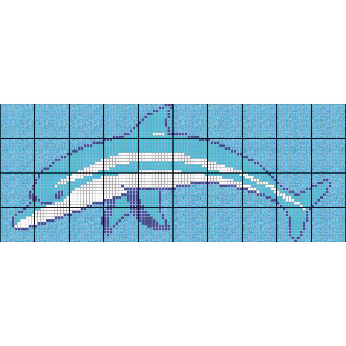 Fondo de piscina Delfin marino