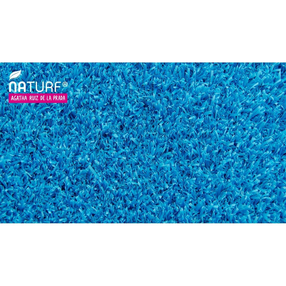 Cesped artificial Azul Serie Agatha Naturf
