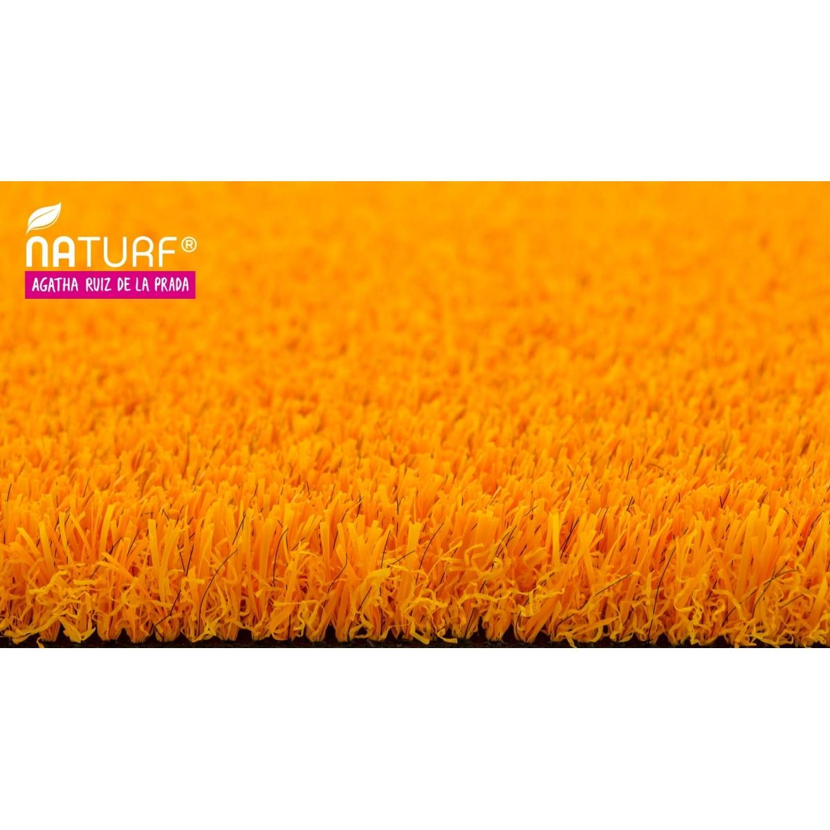 Naturf Cesped artificial Naranja Serie Agatha