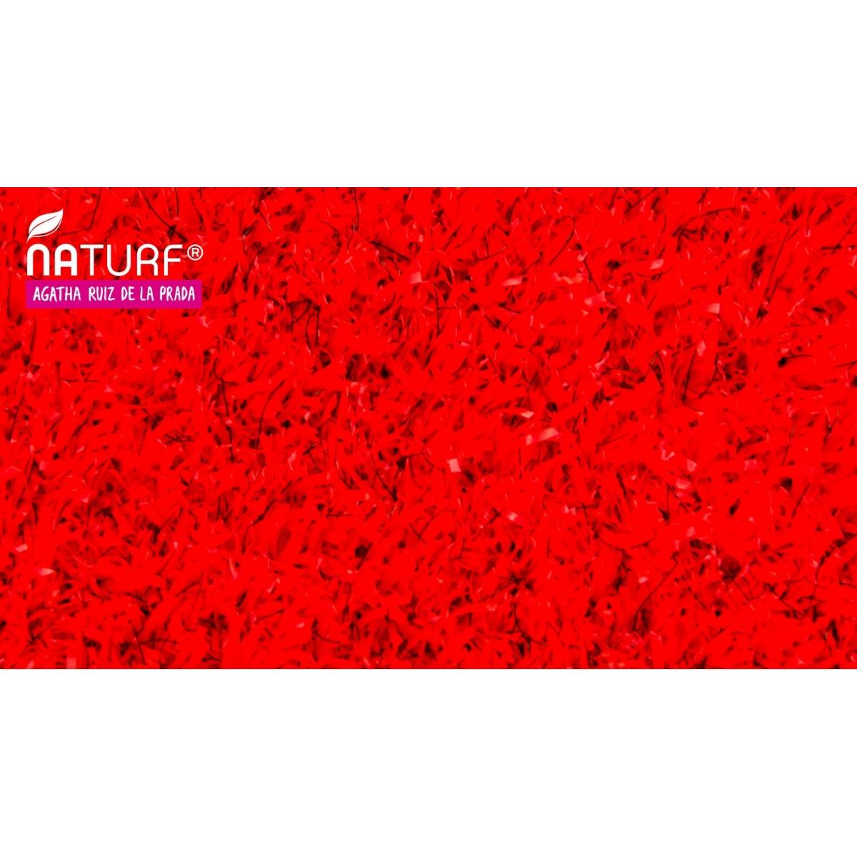 Césped Artificial Rojo Serie Agatha al mejor precio