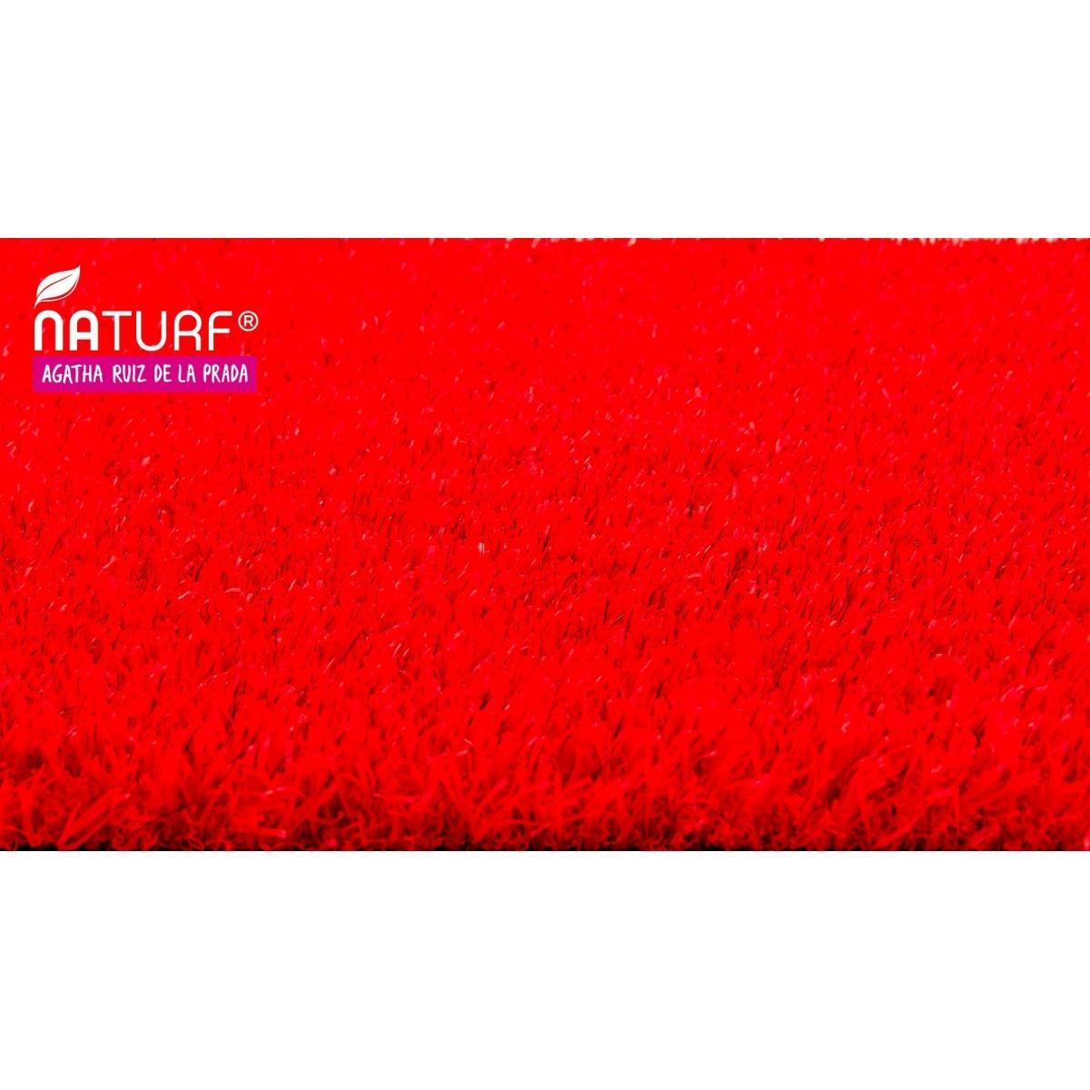 Cesped artificial Rojo Serie Agatha Naturf