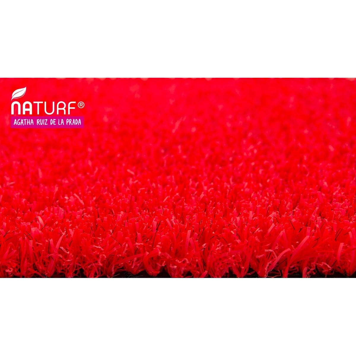 Naturf Cesped artificial Rojo Serie Agatha