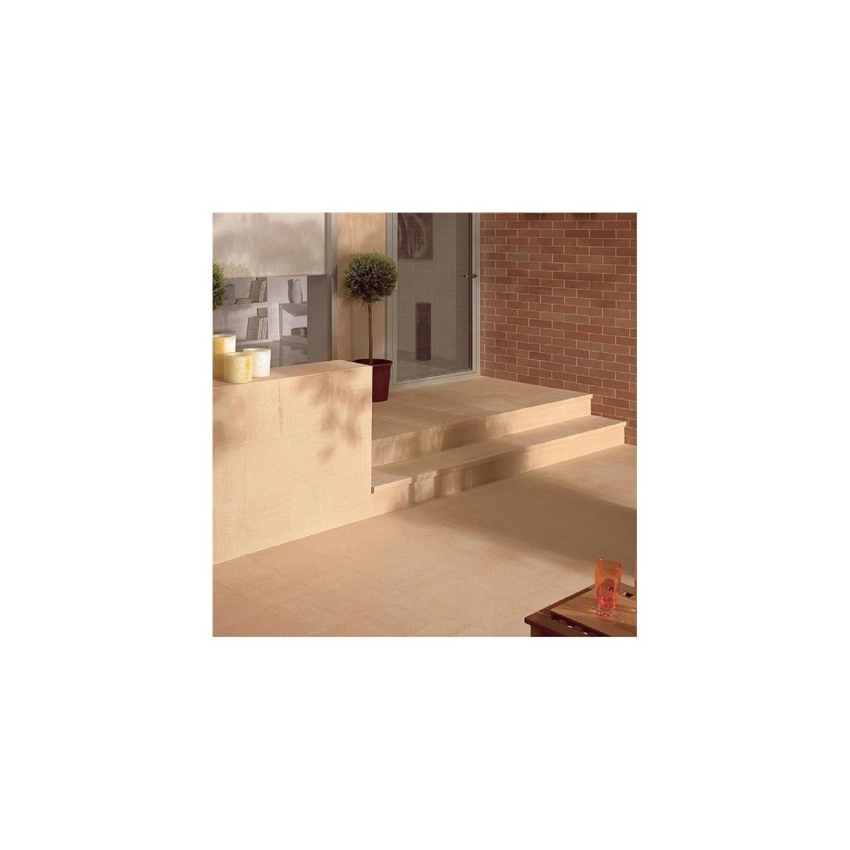 Base Arena Grain 40x40 - Colección Venatto - Bordes de piscina - Marca GrecoGres