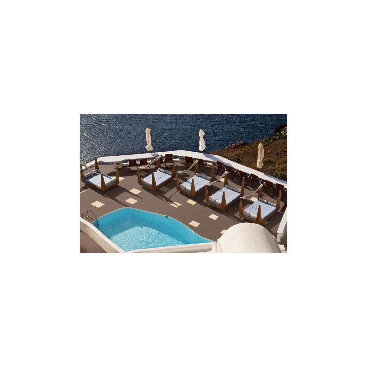 Base Trópico Grain 40x40 Colección Venatto - Bordes de piscina