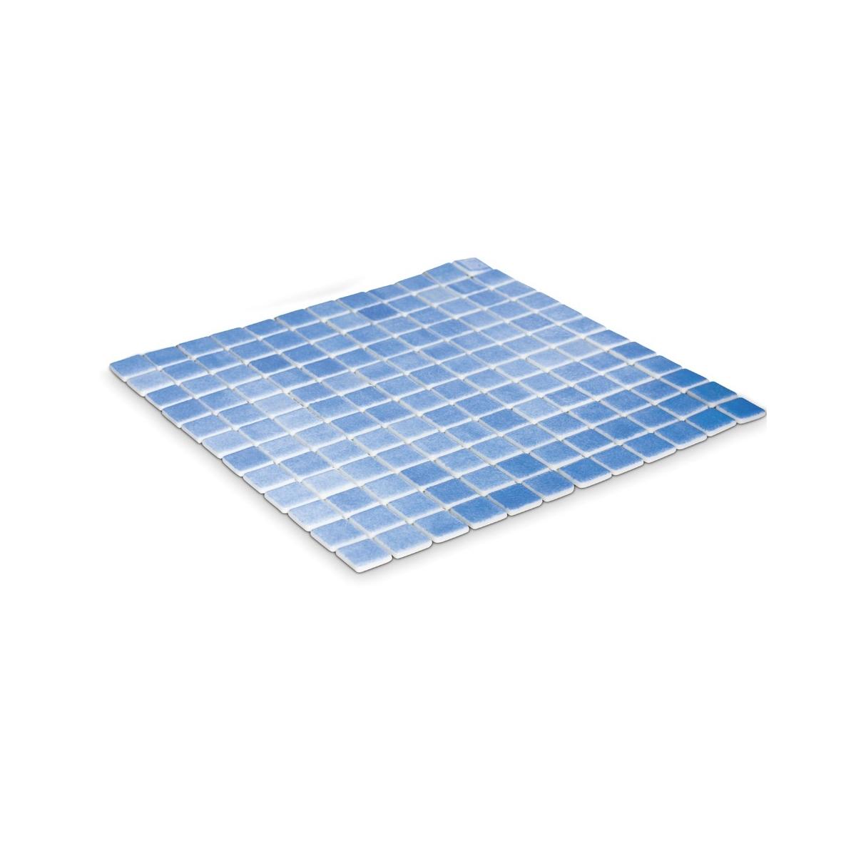 Gresite para piscina color azul niebla antideslizante en malla (m2) barato