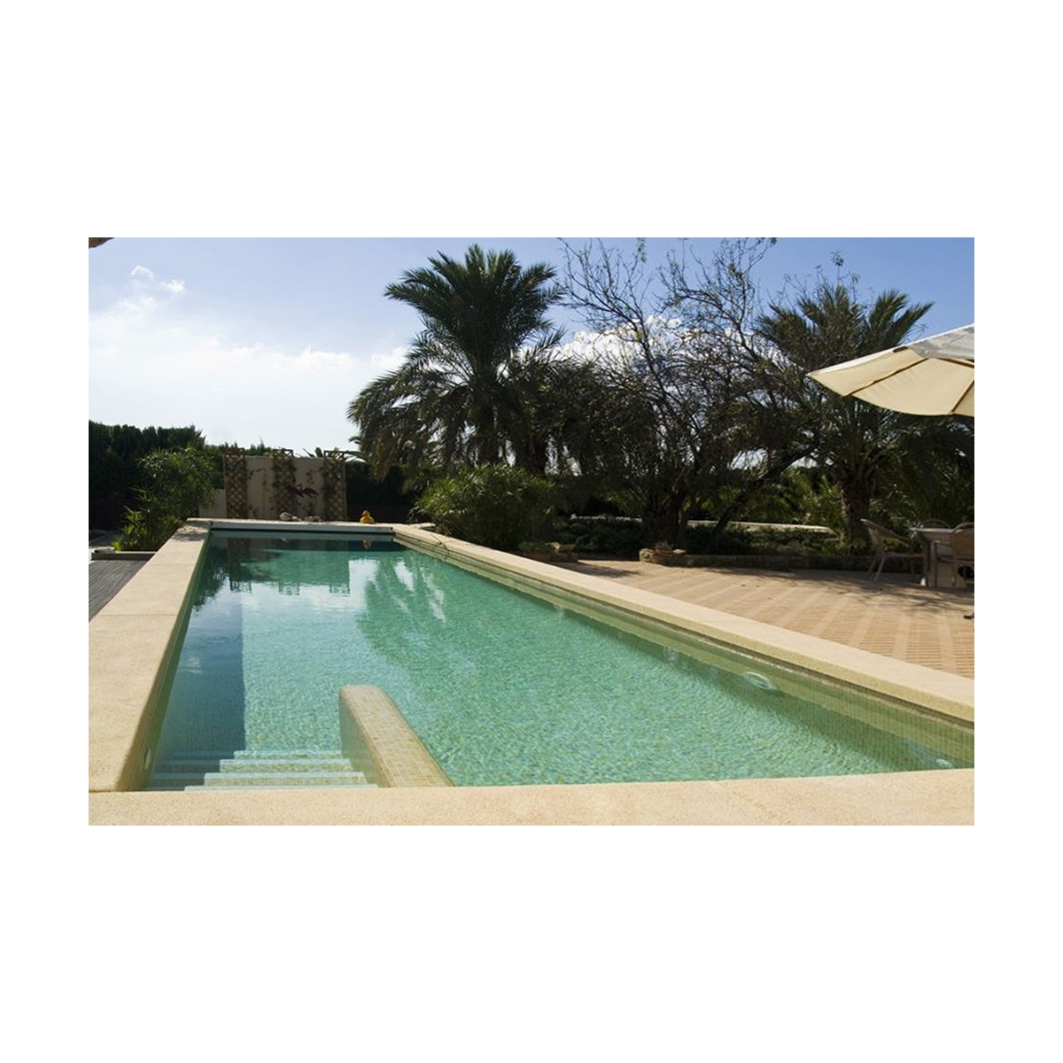 Gresite para piscina color beige niebla (m2) barato