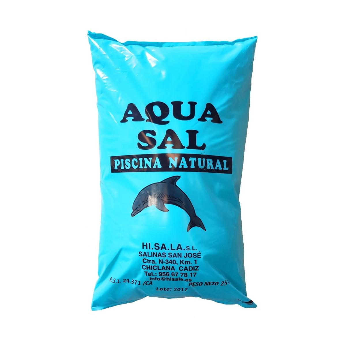 Sal para piscina 25kg - Limpieza de piscinas - Marca Salinera española