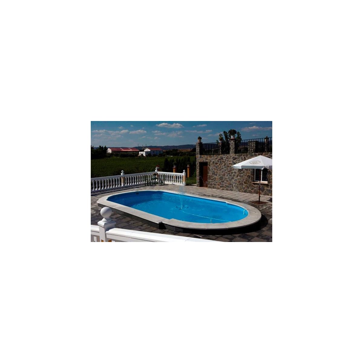 Borde de piscina recto 50x100 granada Prefabricados López