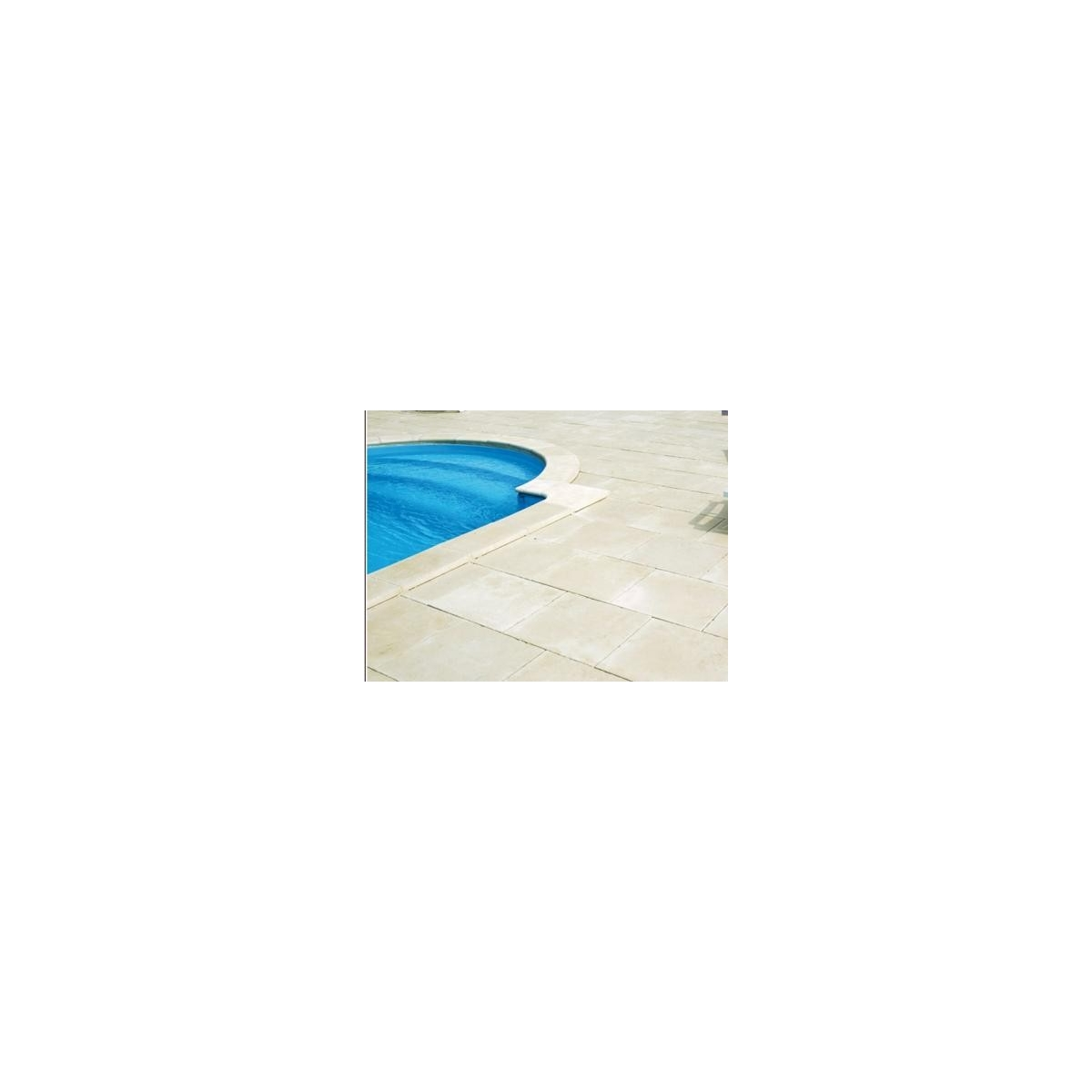 Losa plana para playa de piscina 50x50x3