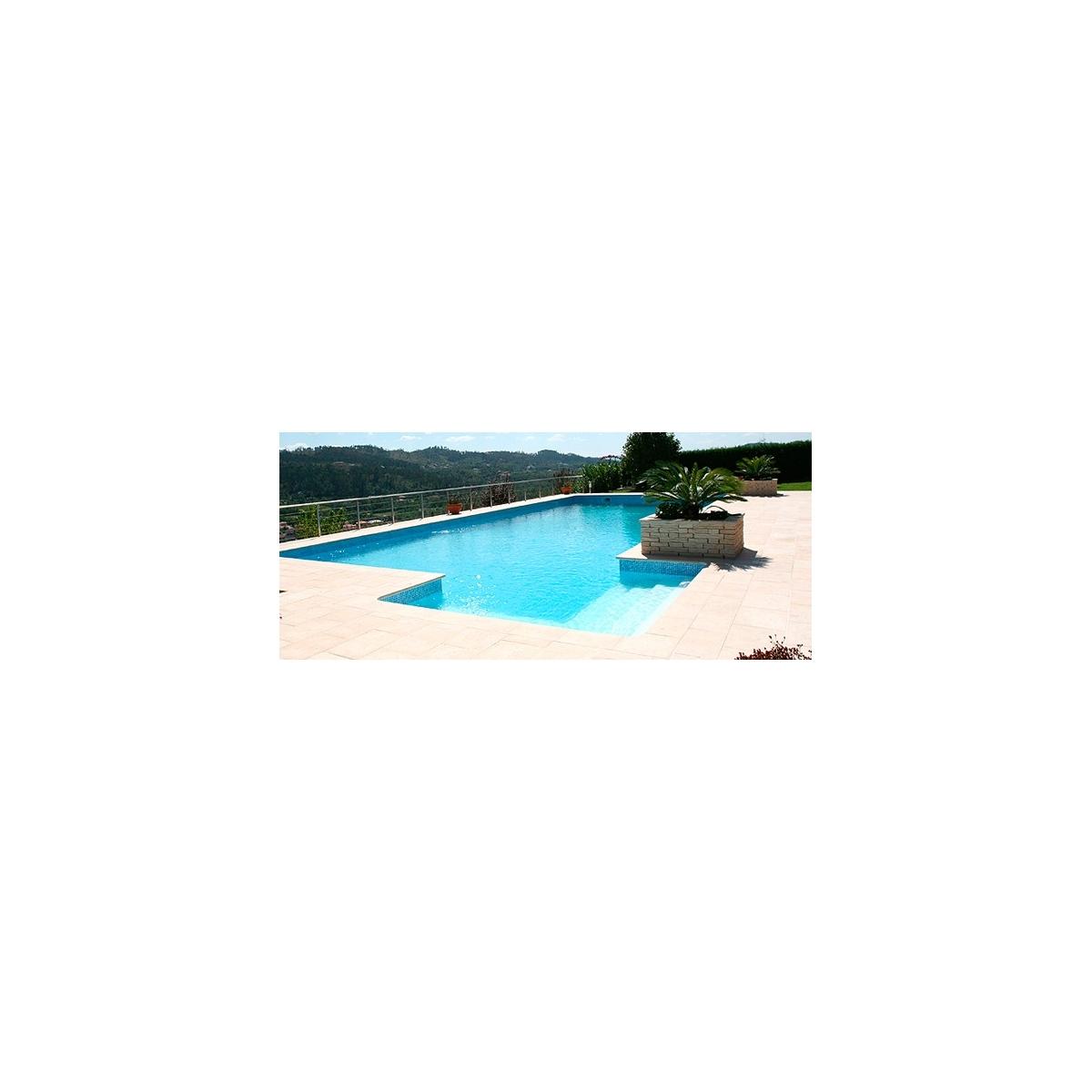 Losa plana para playa de piscina 50x50x3 Prefabricados López