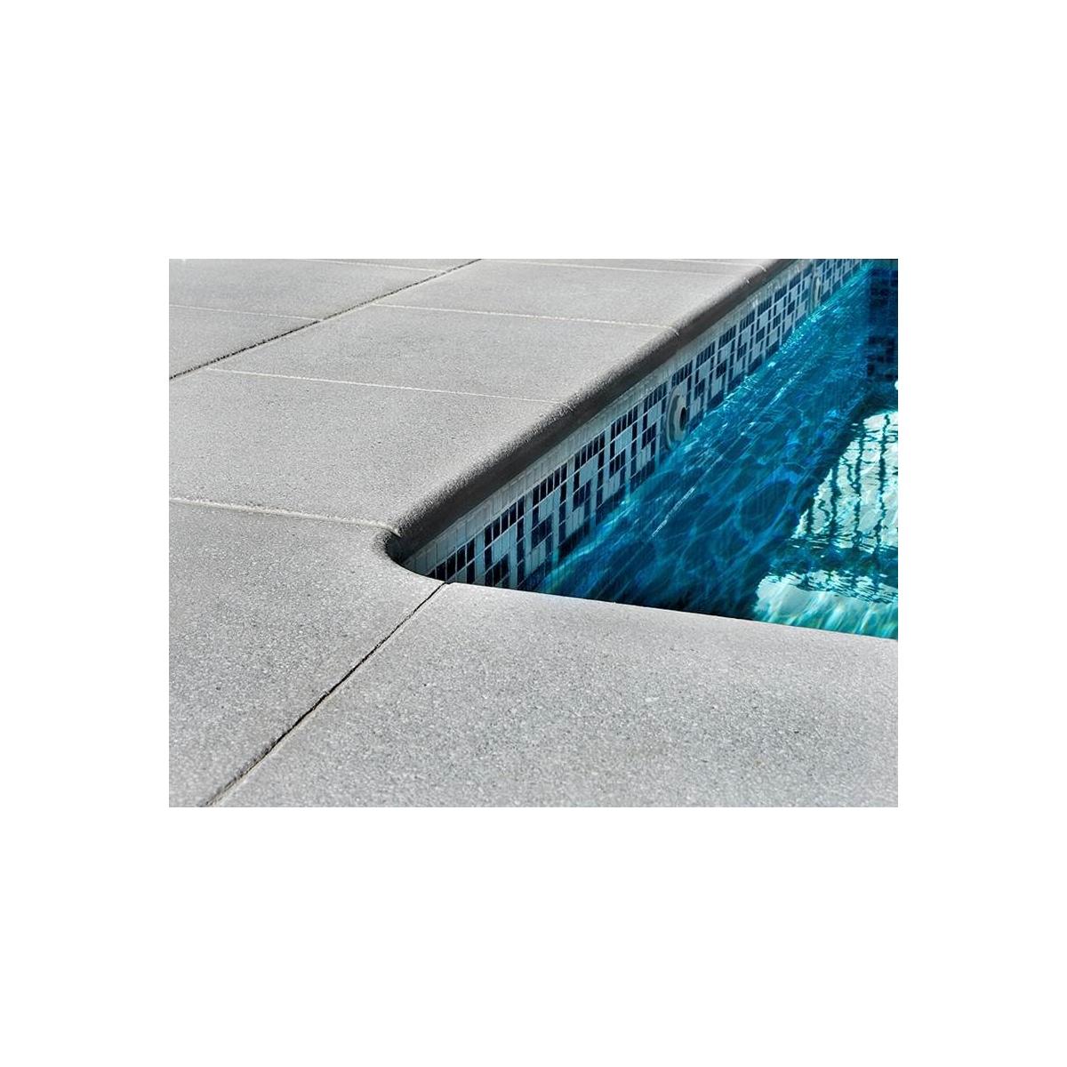 Borde de piscina esquina invertida Jerez Prefabricados López