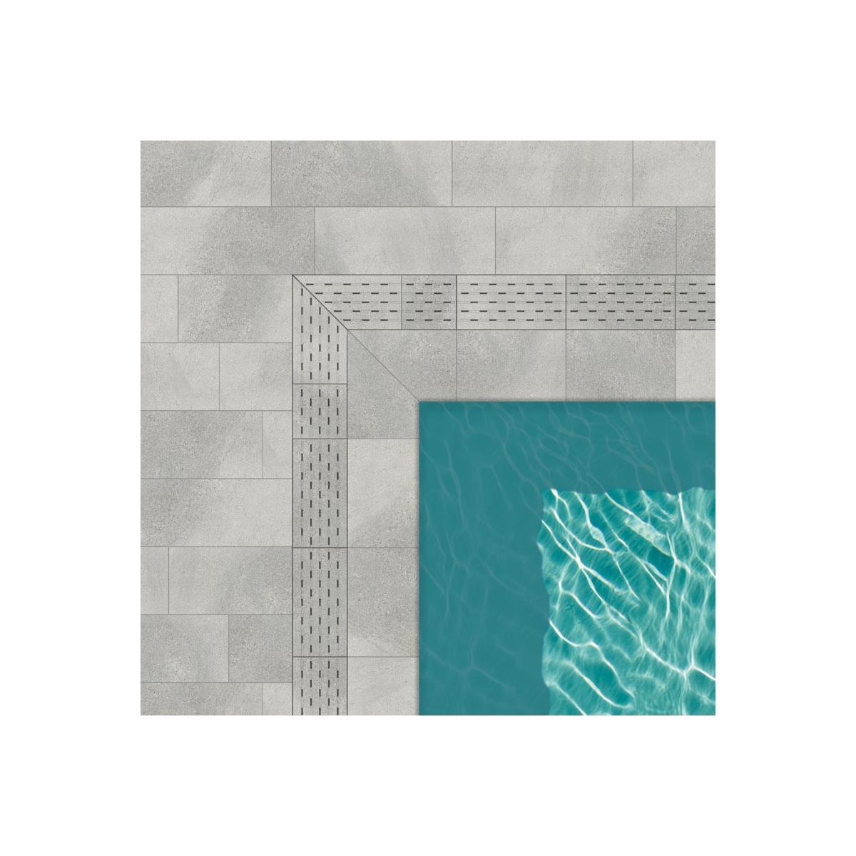 Coronación de piscina Creta Stromboli Silver de Cerámicas Mayor - Bordes de piscina Stromboli Silver