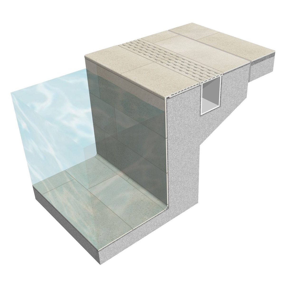 Cerámicas Mayor Rejilla de piscina Stromboli Silver 25x50