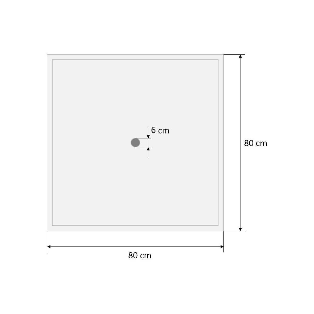 Plato de ducha para piscinas de 80x80 Prefabricados López