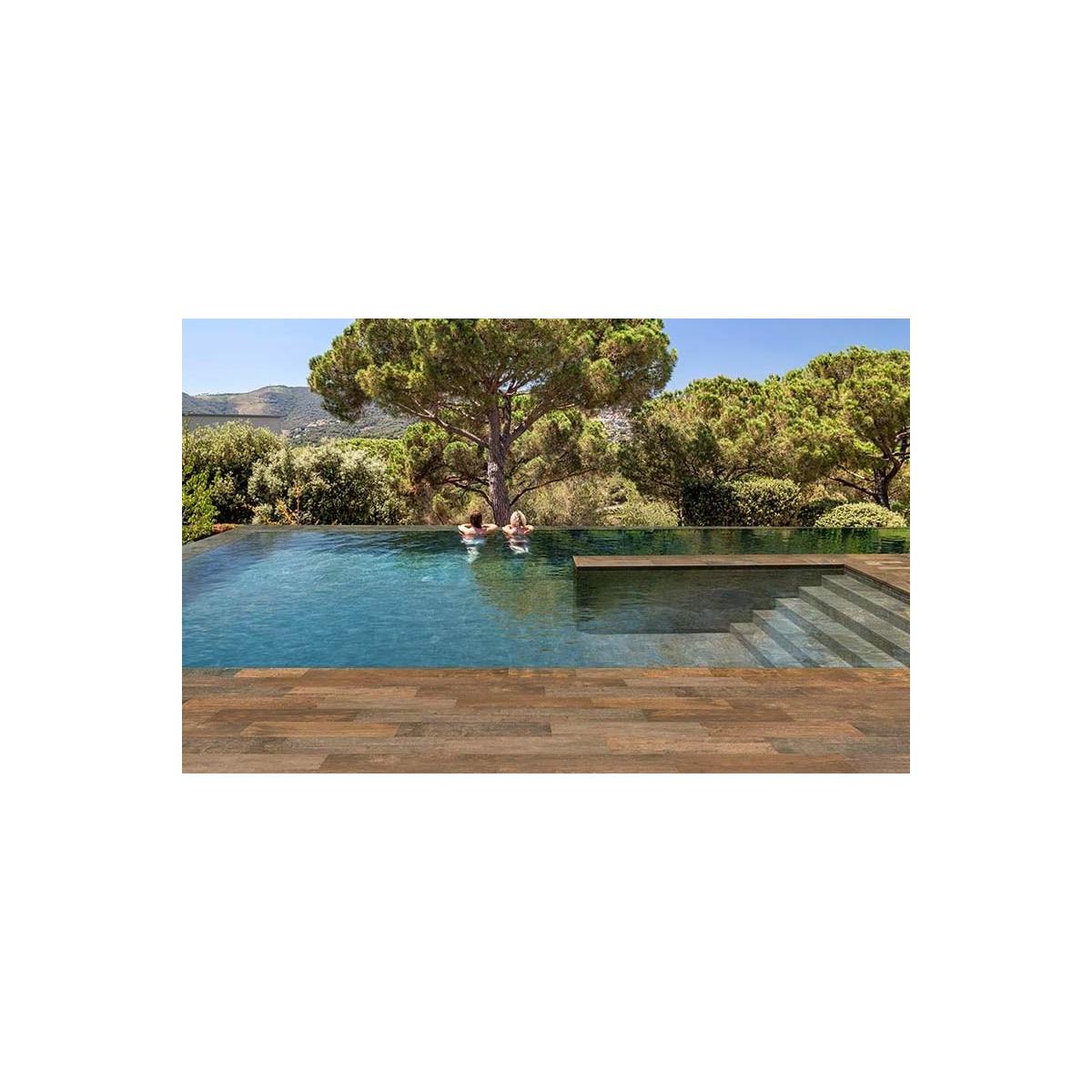 Borde de piscina curvo serie Stela Dark S62 62,6x31,7x3,8 Rosagres