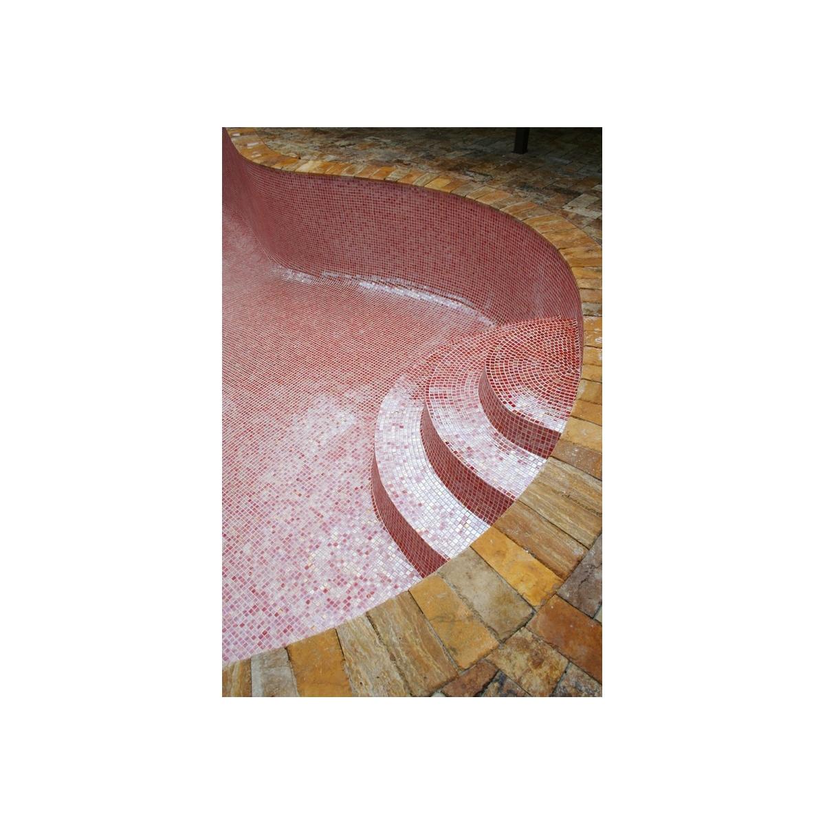 Gresite para piscina Rojo Liso (m2) al mejor precio online - Platos de ducha de obra al mejor precio