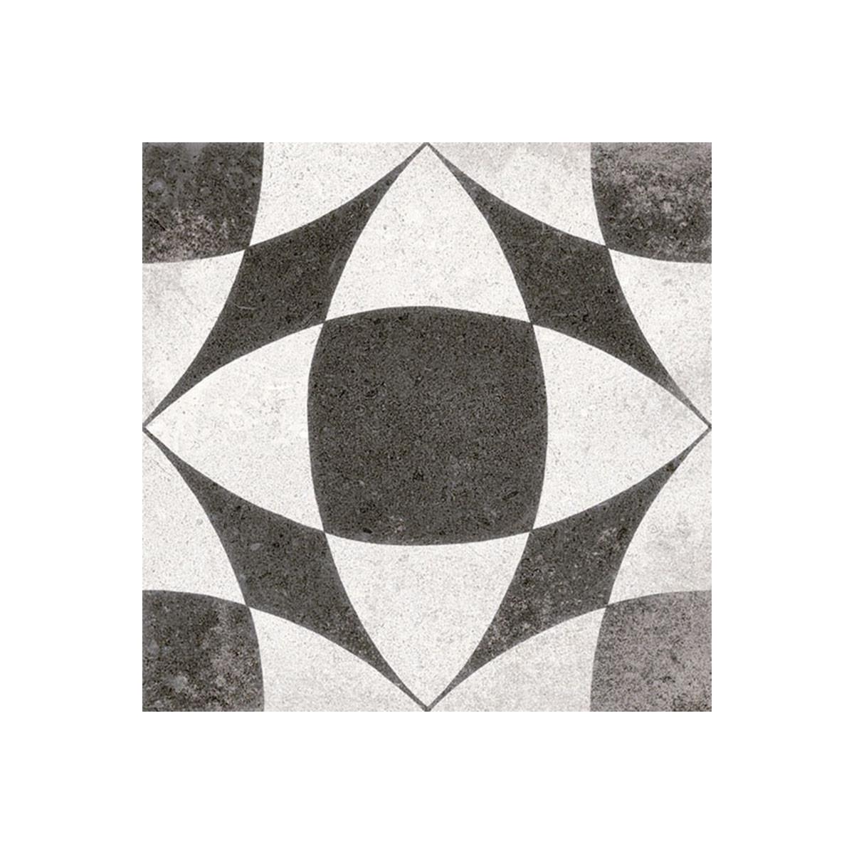 Pavimento hidráulico porcelánico antideslizante - Berkane Negro 20x20 (m2)