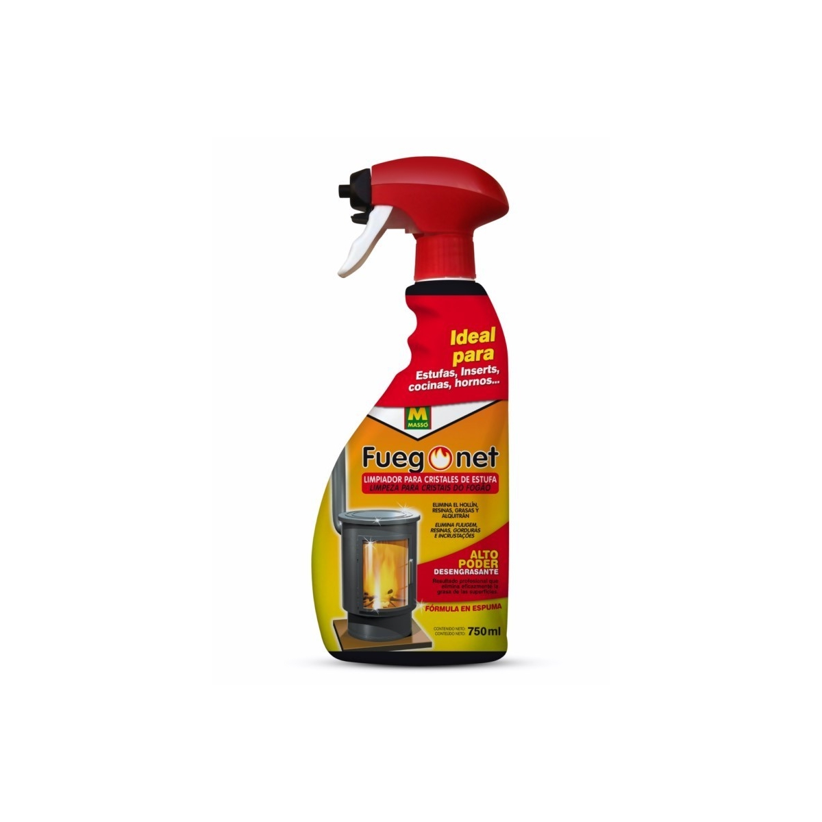 Limpiaestufas en espuma 750 ml