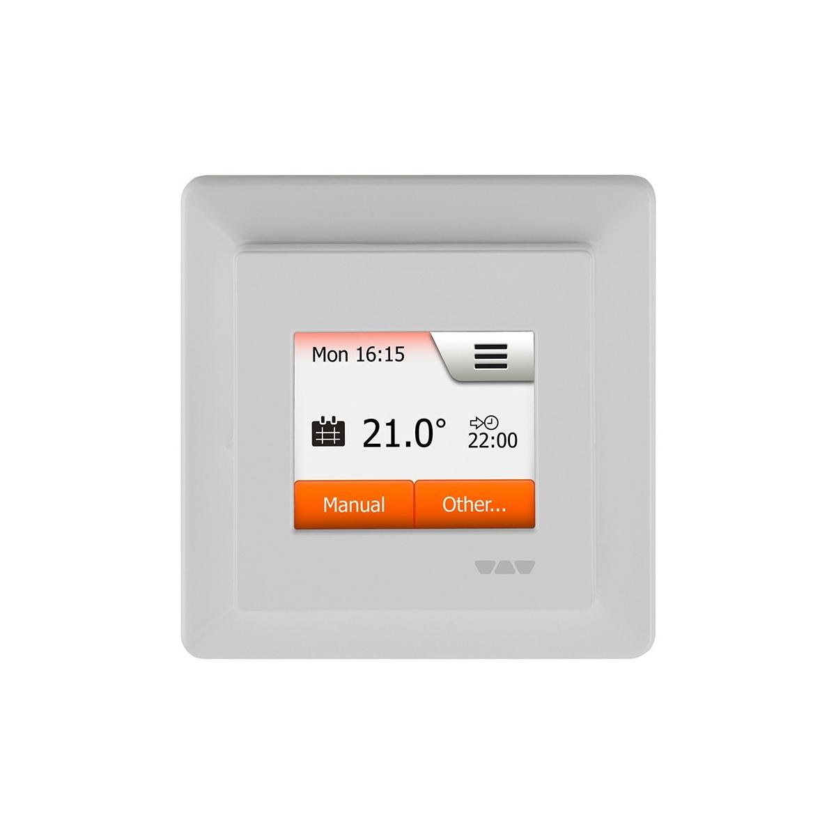 Suelo radiante mediante electricidad y termostato digital regulable y programable